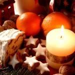 Dekoracyjne przysmaki świąteczne w wigilie.