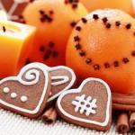 Pierniki oraz pomarańcze jako przysmaki wigilijne.
